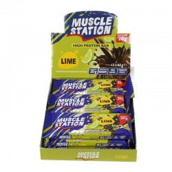 Muscle Station Lime Bar 12 Adet